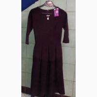Сукня кольору марсала з прикрасою(р.44)/платье темно-сливового цвета с украшением