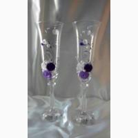 Свадебные бокалы Цветы (BOHEMIA, Чехия)