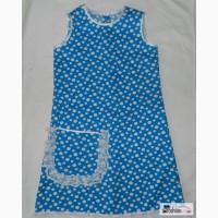 Летнее голубое платье сарафан для девочки