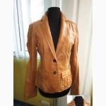 Стильная женская кожаная куртка- пиджак RENE LEZARD. Франция. Лот 470