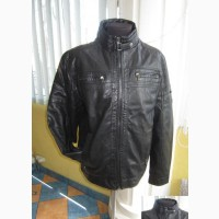 Модная утеплённая кожаная мужская куртка GO-START. Италия. Лот 888