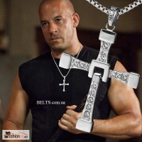 Уникальный крест на цепочке Доминика Торетто (Вин Дизель), кулон крестик