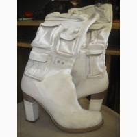 Продам сапоги белые кожаные р.39 Б/У в Одессе