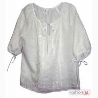Блуза вышитая (Вышиванка) Берегиня с обережной вышивкой (ЛЕН)