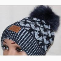 Зимняя шапка на флисе, песец, разн. цвета
