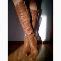 Стильные женские сапоги Marinety демисезонные, кожа, б/у (свои, не секонд)