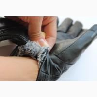 Перчатки женские, мех, кожа натуральная., много видов