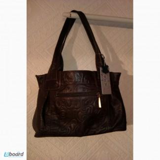 Новая кожаная сумка для деловой женщины фирмы diamond