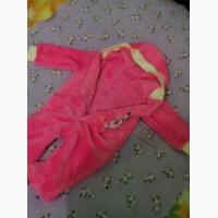 Піжамка тепла махрова для немовлят/человечек теплый с капюшоном розового цвета