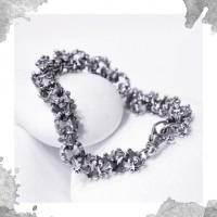 Срібний браслет «Геральдична лілія»