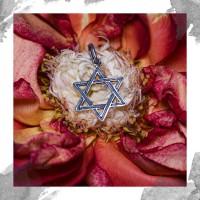 Срібний кулон «Зірка Давида»