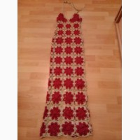Платье нарядное вязаное