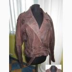 Крутая женская кожанная куртка - «косуха» с поясом MADDOX. Лот 444