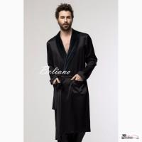 Мужской двухсторонний халат шелковый/махровый купить в Киеве в Beliano