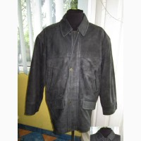 Большая утеплённая кожаная мужская куртка. Нубук! Лот 563