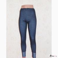 Леггинсы джинсовые с пуговицами внизу, р.44-48