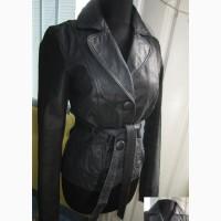 Оригинальная женская кожаная куртка с поясом ONLY. Лот 871