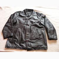 Большая утеплённая кожаная мужская куртка HONEY. Франция. Лот 617