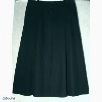 Юбка черного цвета. Размер 54 производства Франция