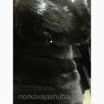 Норковая шуба полушубок поперечка