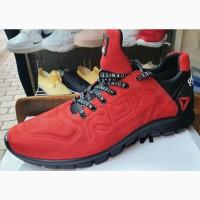 Спортивные кроссовки кроссовки Reebok Реплика кожаные черные красные Мелитополь Украина