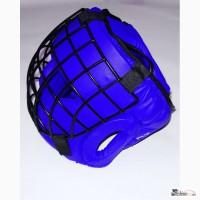 Шлем для единоборств, маска сталь. Натуральная кожа