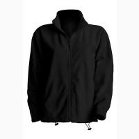 Флисовая курточка мужская (унисекс) черная на молнии продам