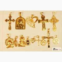 Золотой крестик, иконка, подвес, пирсинг 585 по цене лома
