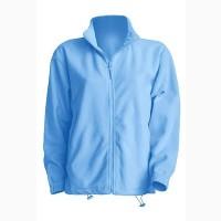 Флисовая курточка мужская (унисекс) голубая на молнии продам