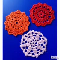 Миниатюрные круглые салфетки для кукольной мебели