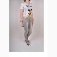 Укороченые модные стильные джинсы. серые