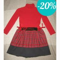 Красное шерстяное платье FLASH Italy для девочки