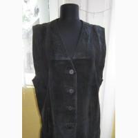 Оригинальная женская кожаная жилетка Echtes Leather. Германия. Лот 626
