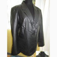 Стильная женская кожаная куртка-пиджак WOOLPECKER. Лот 566