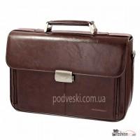 Мужской портфель коричневый Professional 818