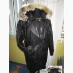 Оригинальная женская кожаная куртка с капюшеном YESSICA.54-56. Лот 338