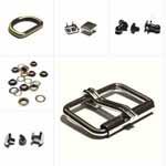 Швейная фурнитура, металлофурнитура и аксессуары, инструменты и мат-лы для работы с кожей