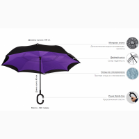 Зонт обратного сложения со скидкой