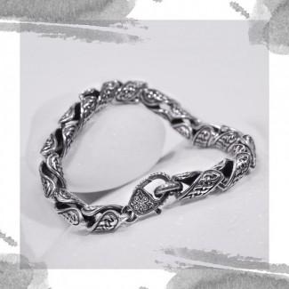 Срібний браслет «Вишуканість»