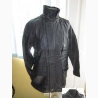 Большая кожаная мужская куртка M. FLUES. Германия. 68р. Лот 1021
