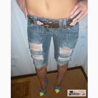 Рваные джинсовые бриджи NEXT DENIM