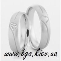 Обручальные кольцо белое золото с бриллиантом на заказ