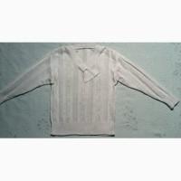 Белая шерстяная кофта размер 50. Сделано в Югославии
