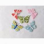 Набор нашивок бабочек с фетра