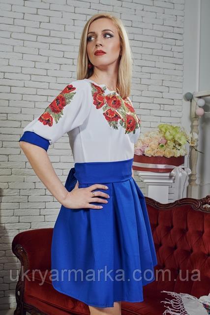Фото 2. Стильні та сучасні вишиті плаття