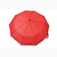 Высококачественный зонт с рюшами, антиветер, разные цвета