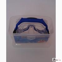 Маска для плавания в пластиковом боксе, силикон, стекло