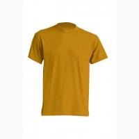 Трикотажная рубашка, футболка темно-горчичная короткий рукав