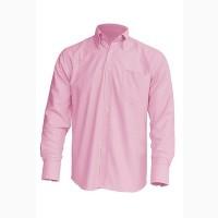 Рубашка мужская с длинным рукавом розовая