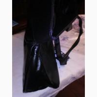 Сумка велика чорна з натуральноі шкіри/сумка большая черная из натуральной кожи